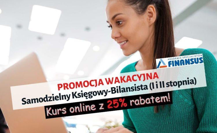 25% Rabat na kurs Samodzielny Księgowy-bilansista