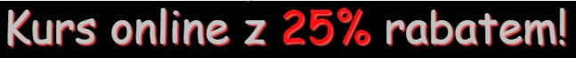 kurs online z 25% rabatem